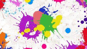 Image avec des impacts de billes de peinture de paintball. Elles proviennent d'un lanceur de paintball ou d'un paintball gun(s)